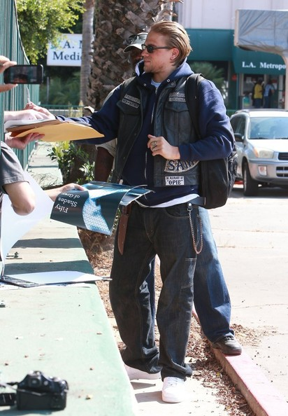 Charlie Hunnam - Scenes from the 'Sons of Anarchy' Set