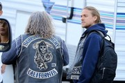 Charlie Hunnam On The Set Of 'Sons Of Anarchy'