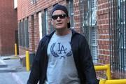 Charlie Sheen Leaves a Medical Building in Beverly Hills