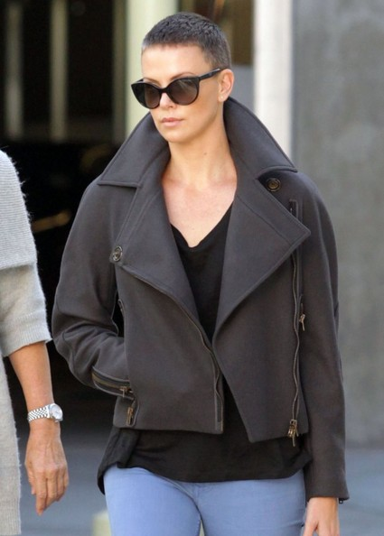 'Mad Max: Fury Road' actress Charlize Theron takes her mom Gerda Theron to the movies at the Arclight Cinemas in Hollywood, California on December 15, 2012.