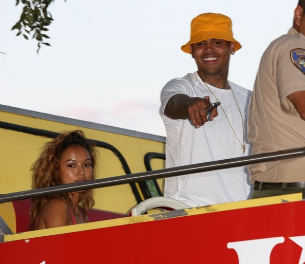 Chris Brown and Karrueche Tran Out in LA []