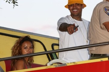 Chris Brown Karrueche Tran Chris Brown and Karrueche Tran Out in LA