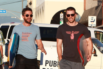 Chris Evans Topher Grace 'A Many Splintered Thing' Films In Venice