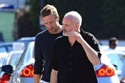Chris Martin Shops for Books with a Friend
