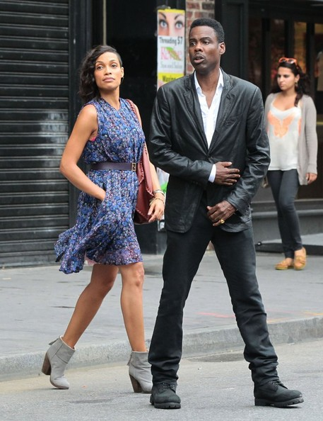 Chris Rock - Chris Rock & Rosario Dawson Film In NYC