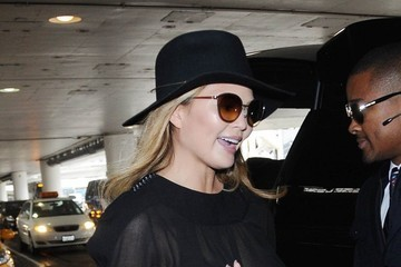 Chrissy Teigen Chrissy Teigen Touches Down at LAX