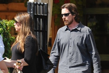 Christian Bale Christian Bale and Sibi Blazic Get Lunch