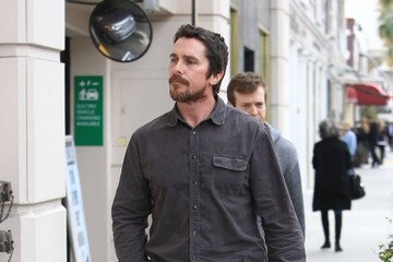 Christian Bale Christian Bale and Sibi Blazic Head Out and About in Beverly Hills