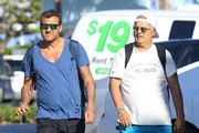 Christian Vieri Out On The Beach In Miami