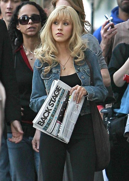 Christina Aguilera On The Set 2011