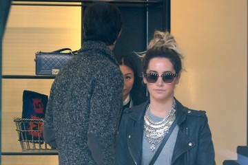 Christopher French Ashley Tisdale & Christopher French Go Shopping At Chanel