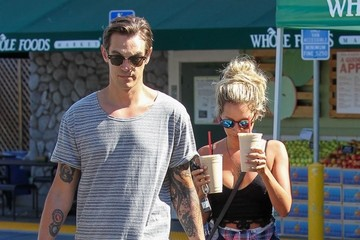Christopher French Ashley Tisdale & Christopher French At Whole Foods