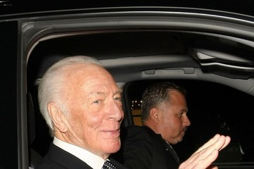 Christopher Plummer Celebrities Enjoy Dinner at Mr Chow Restaurant