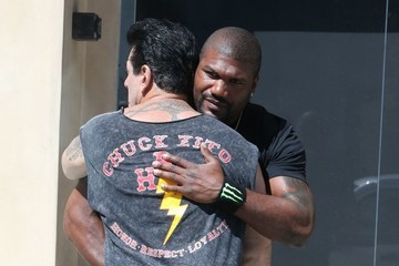 Chuck Zito Rampage Jackson & Chuck Zito Chat It Up In Beverly Hills