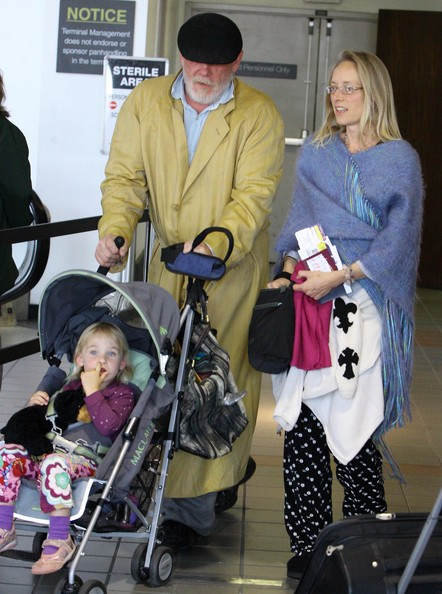 Nick Nolte And Family At LAX