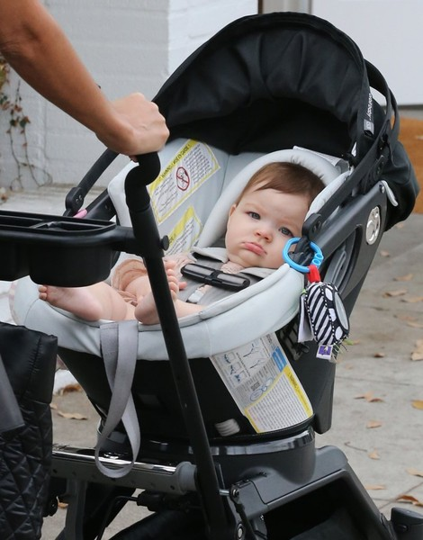 Terri Seymour Out and About With Her Baby Girl