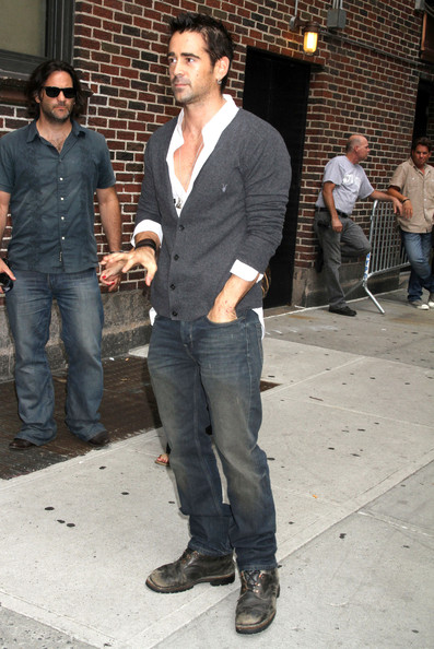Actor Colin Farrell at the 'Late Show with David Letterman' in New York City, NY.