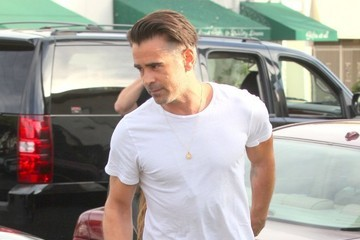 Colin Farrell Colin Farrell and a Friend Go Out for Lunch