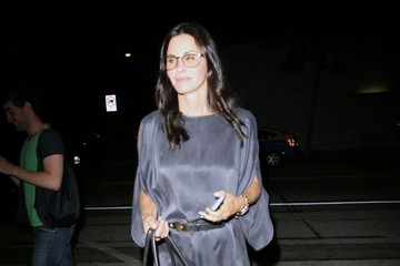 Courteney Cox Celebrities Dine Out At Craig's Restaurant