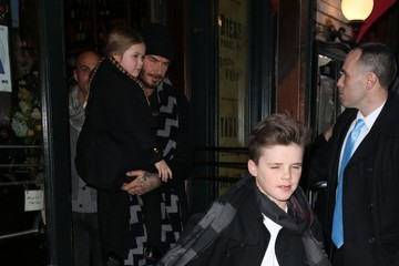 Cruz Beckham Victoria and David Beckham Take Their Kids to Dinner after the Victoria's Fashion Show
