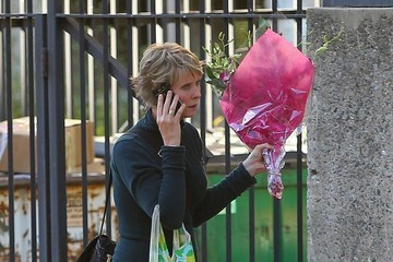 Cynthia Nixon Cynthia Nixon Carries Flowers in NYC