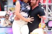 """'Dancing With the Stars' winners Rumer Willis and Val Chmerkovskiy visit ABC Studios for an appearance on """"Good Morning America"""" on May 20, 2015 in New York City, New York."""