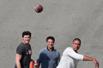 Corky Ballas 'Dancing With The Stars' Participants Tossing A Football Before The Show