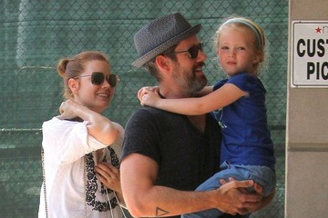 Darren Le Gallo Amy Adams and Family Enjoy a Swimming Class