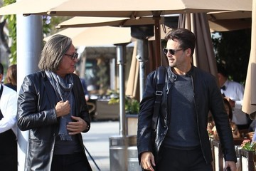 David Charvet David Charvet and Mohammed Hadid Grab Lunch Together