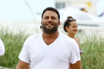 David Grutman Kourtney Kardashian Enjoys a Day on the Beach in Miami