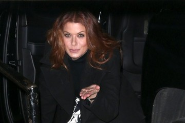 Debra Messing Celebrities at 'The Late Show With Stephen Colbert'