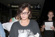 Demi Lovato Arrives at LAX — Part 2