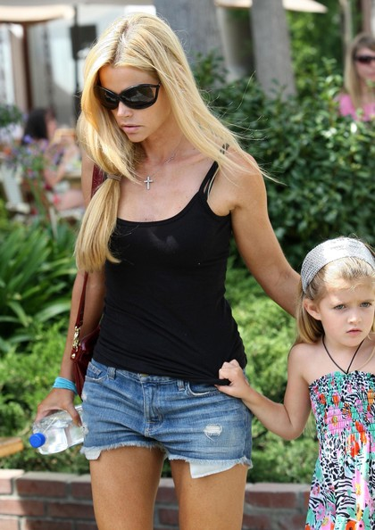 Actress Denise Richards and her daughter Sam Sheen seen out and about in Malibu, CA.