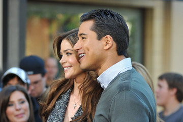 Mario Lopez Denise Richards At The Grove To Do An Interview On EXTRA