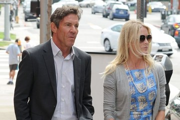 Dennis Quaid Kimberly Quaid Dennis Quaid & Kimberly Eat Lunch At Toscana Restaurant
