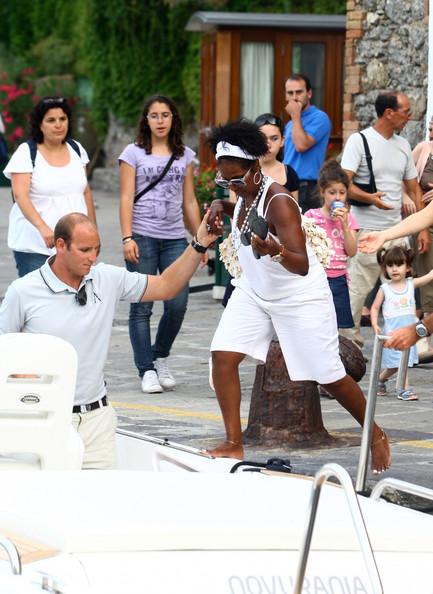 Denzel Washington & Family Vacationing In Portofino