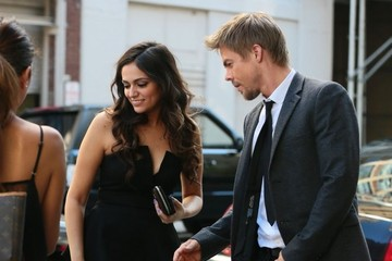 Derek Hough 'Dancing With The Stars' Contestants Outside The Trump Soho Hotel