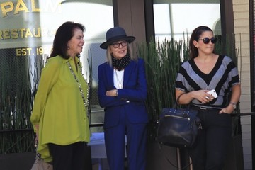 Diane Keaton Diane Keaton Grabs Lunch With Friends at The Palm in Beverly Hills