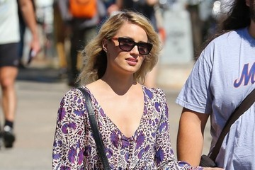 Dianna Agron Dianna Agron and Boyfriend Winston Marshall Shop in NYC