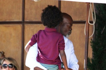 Djimon Hounsou Djimon Hounsou Lunches at Il Pastaio