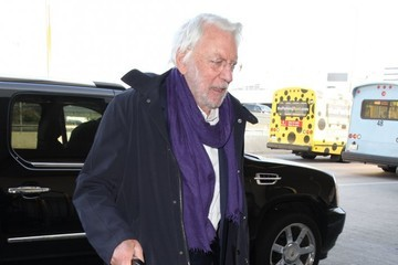 Donald Sutherland Donald Sutherland Departing On A Flight At LAX