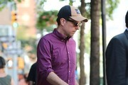 Ed Helms Leaving His Hotel in New York City
