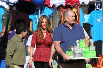 Ed O'Neill Rico Rodriguez 'Modern Family' Films in Culver City