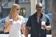 Eddie Murphy and Paige Butcher Get Coffee