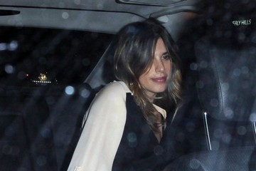 Elisabetta Canalis Celebrities Enjoy a Night Out at the Nice Guy Nightclub