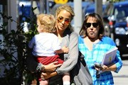 Elizabeth Berkley Takes Her Son to Lunch