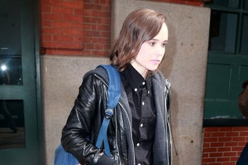 Ellen Page 'Freehold' Co-Stars Leave a Meeting in New York