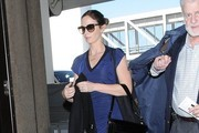 Emily Blunt Catches a Flight