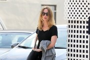 Emily Blunt Lunches at La Conversation
