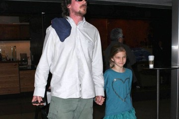Emmaline Bale Christian Bale And Family Arriving On A Flight At LAX